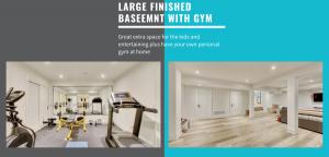 spacious basement with custom gym room